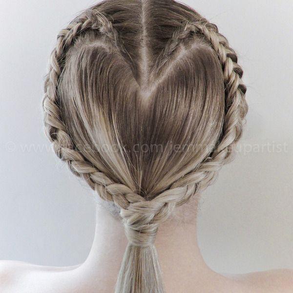 Heart Braid Hair Updo