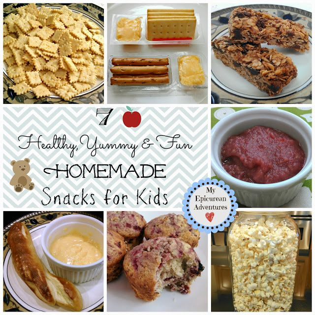 My Epicurean Adventures: 7 Healthy, Yummy and Fun Homemade Snacks for Kids