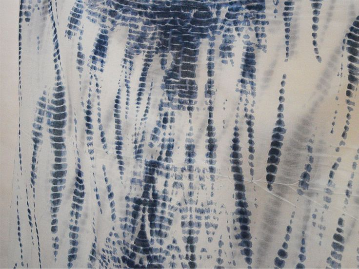 Hand-Dyed, Shibori Cotton Fabric India.Indigo Blue, Bandhani, Print 44' #Handmade