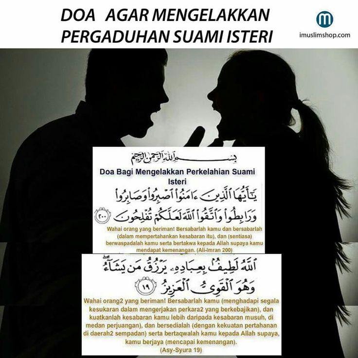 Doa untuk mengelakkan pergaduhan suami isteri