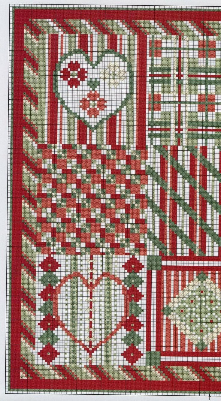 red and green designs 3/4