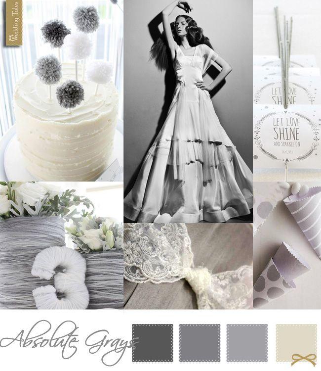 Wedding Moodboard | Absolute Grays