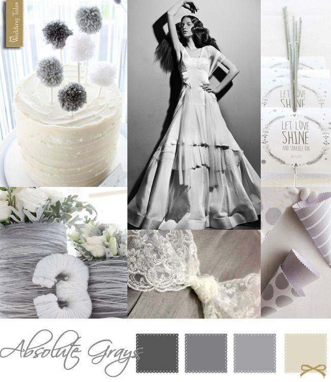 Wedding Moodboard | Absolute Grays