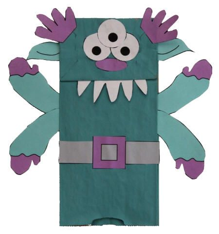 6/13/12 Paper Bag Alien Monster Puppet - I just put out fun supplies and let the kids go wild.. but if you want a more structured option, this has templates for all the body parts and such. :)