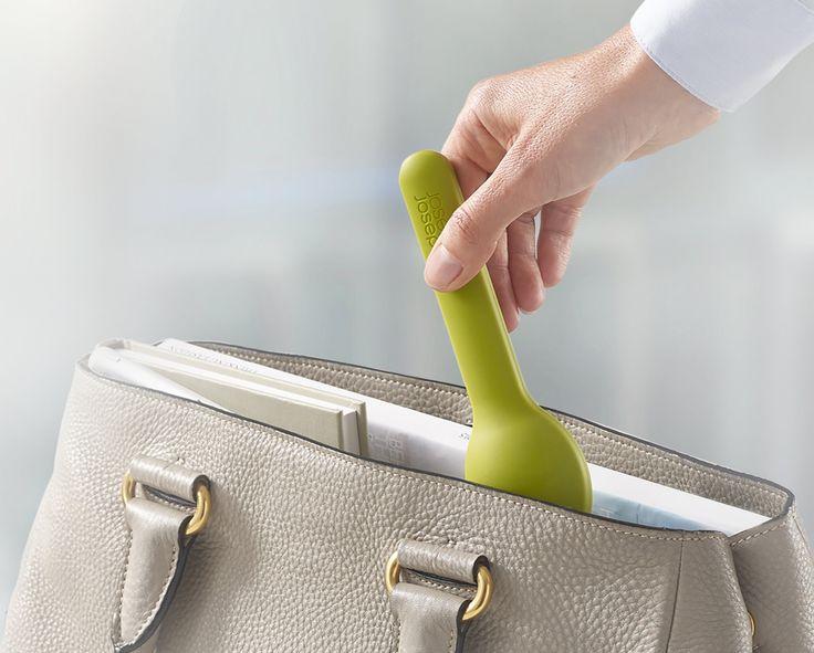 Sztućce Eat & GO Praktyczne i wygodne - zabierz je ze swoim ulubionym luchchboxem  #sztućce #nóż #widelec #łyżka #lunch #sniadanie #podróż #sklep #cutlery #josephjoseph #maleomi