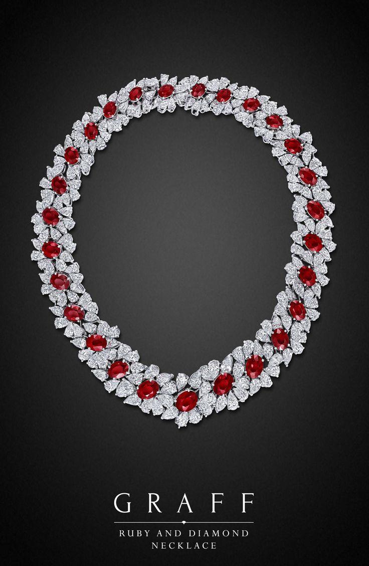 Graff Diamonds: Ruby and Diamond Necklace Diamonds 113.66cts, Rubies 87.71cts