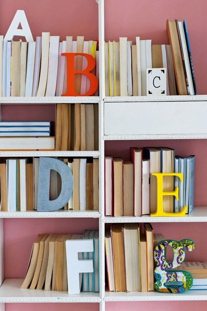 Classroom Bookshelf Ideas ~ Back to front typography bookshelf ideas and classroom