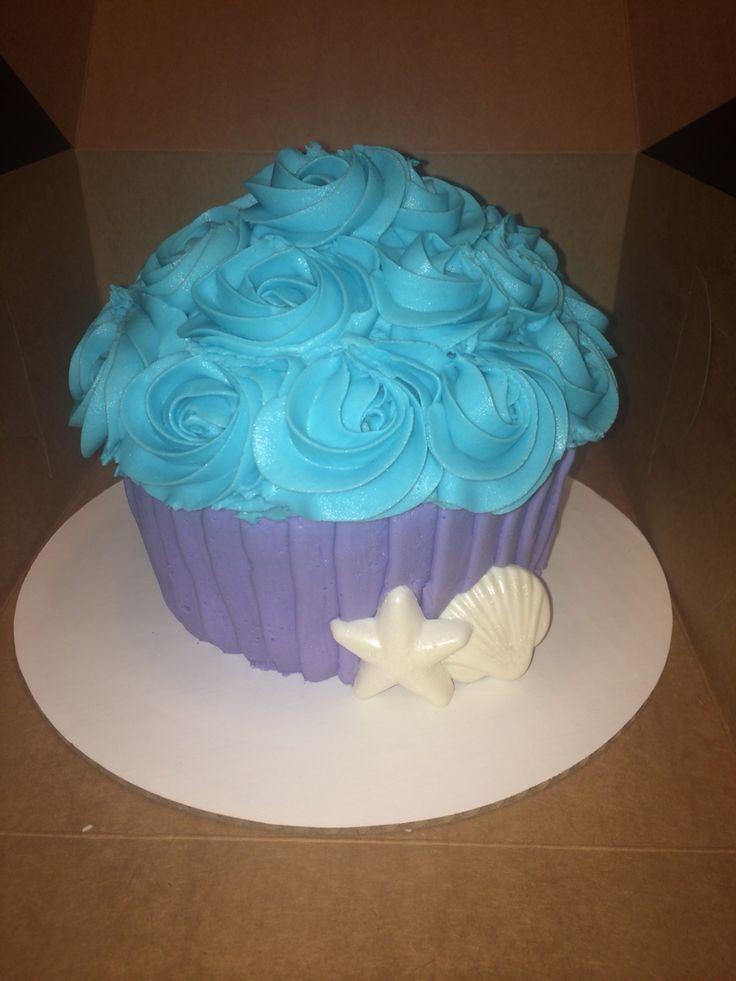 Mermaid Smash Cake My Cakes Amp Cupcakes 1st Bday Cake