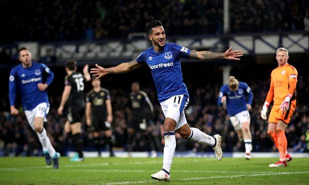 Everton 2-1 Leicester City: Theo Walcott nets first goals