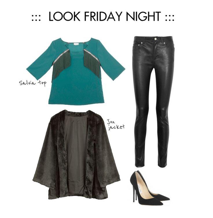 Look friday night, top y abrigo de LOL&TONIC www.lolandtonic.com