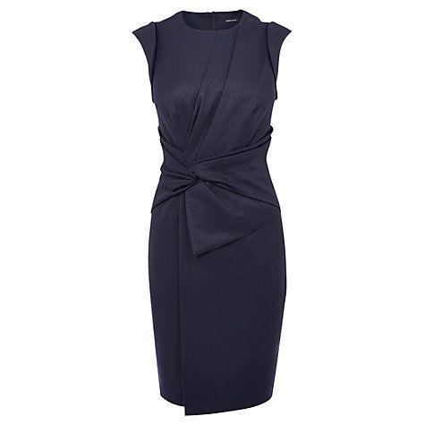Buy Karen Millen Draped Technique Dress, Navy Online at johnlewis.com