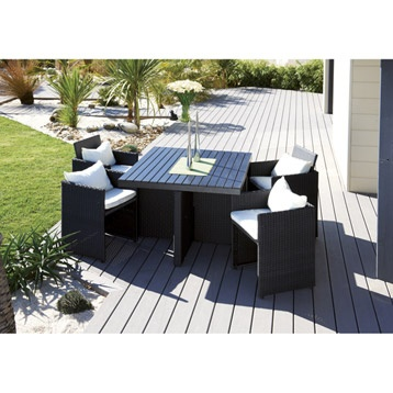 Table salon de jardin leroy merlin for Salon resine tressee leroy merlin