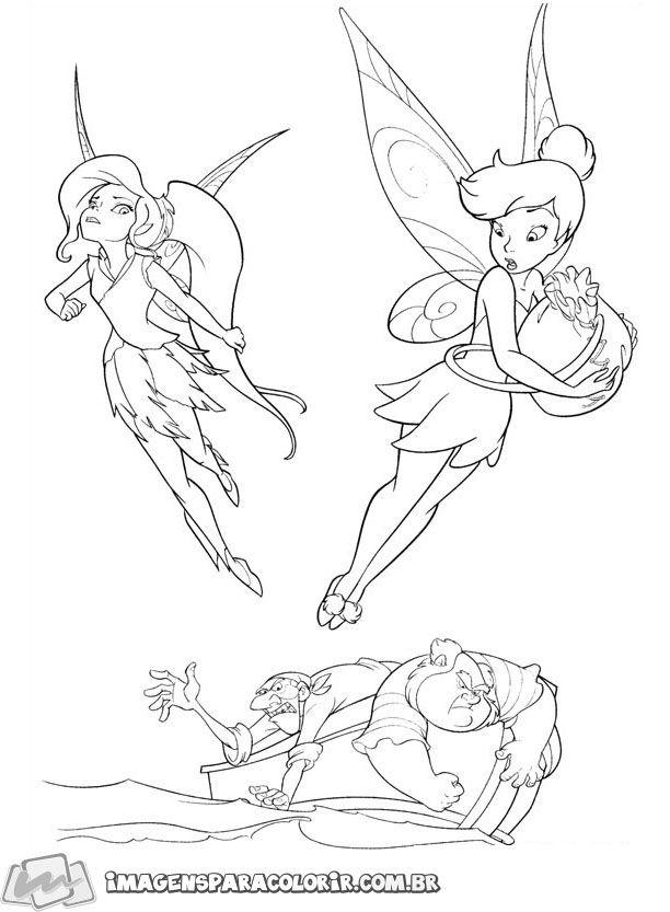 Tinker Bell Fadas E Piratas Imagens Para Colorir