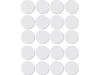 Om de etiketten mee vast/dicht te plakken    ronde etiketten 19mm Wit
