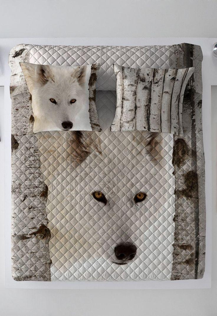 Fashion Days - Pro snílky - Bílý prošívaný přehoz přes postel Wolf
