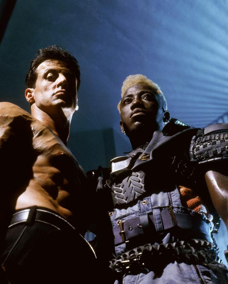 Sly and Snipes in Demolition Man (1993)