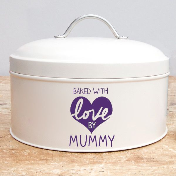 Personalised Mother's Day Cake Tin