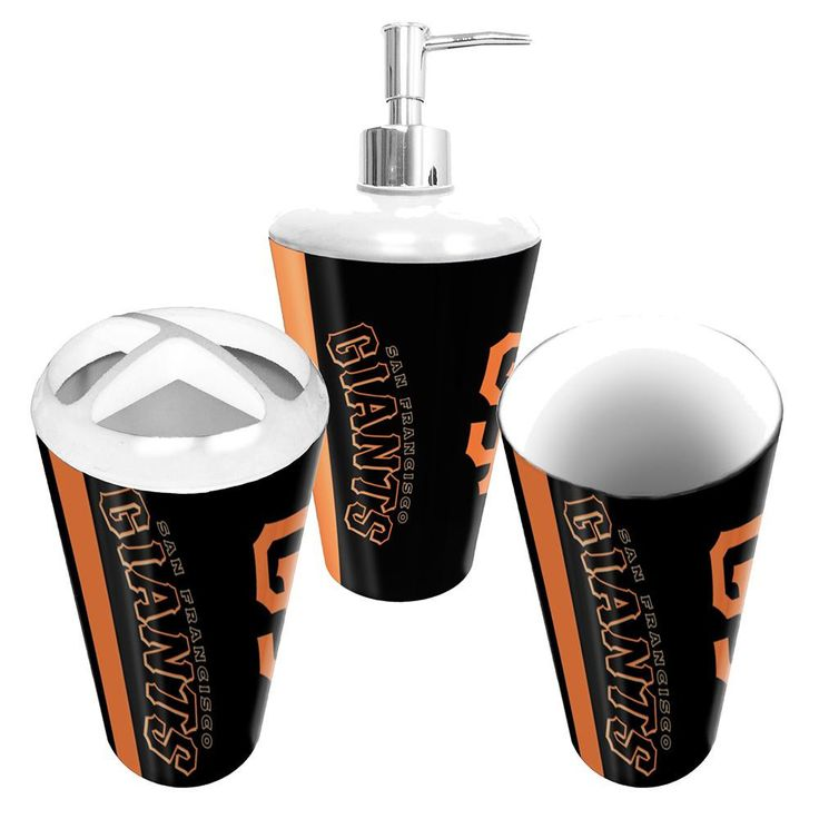 San Francisco Giants Mlb Bath Tumbler Toothbrush Holder Soap Pump 3pc Set