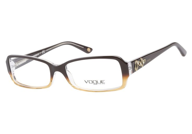 Vogue VO2675 B 1851 Brown eyeglasses have a rich, indulgent finish. The classic rectangular shape is the perfect foundation for the fabulous fade effect from a pearlescent milk chocolate to a succulen from @CoastalDotCom