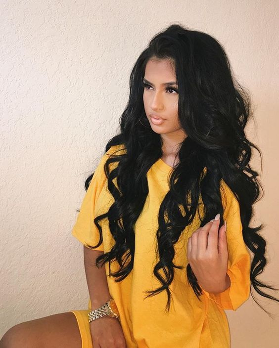 A cor do corpo de cabelo do Virgin de Malásia da categoria 6A 3Pcs / embala a cor preta natural