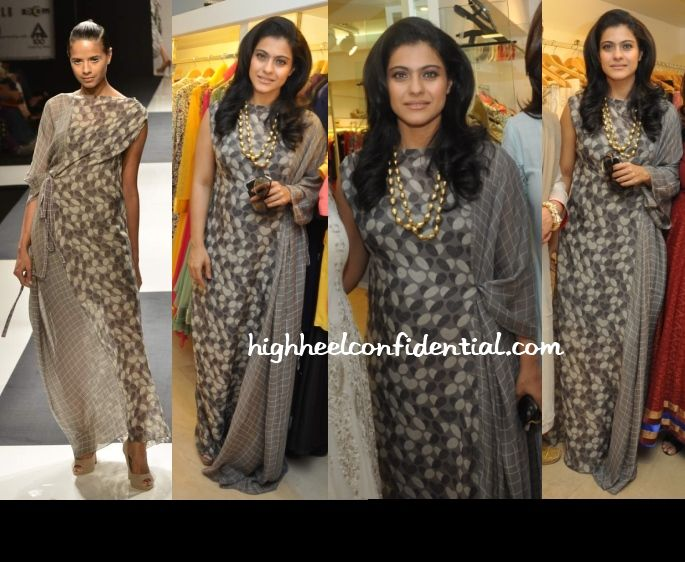 Love this very different dress on Kajol in Dev R Nil