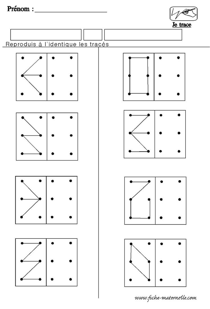 Structuration de l'espace en maternelle: géométrie refaire le même dessin