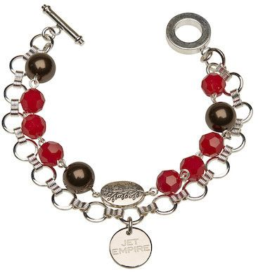 Chandelier - Chocolate and Red Coral