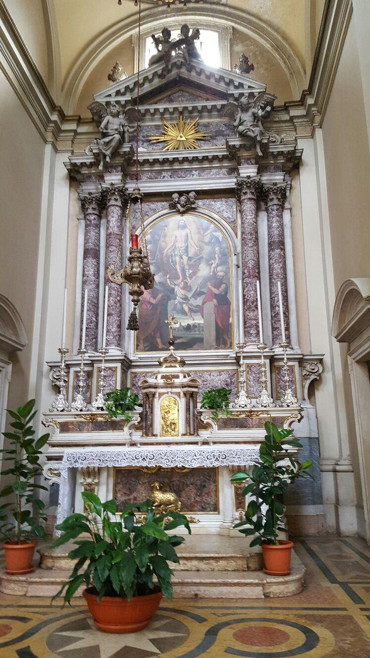 Trasfigurazione  Cristo (con i simboli della Passione ) tra Mosè ed Elia Moretto 1541