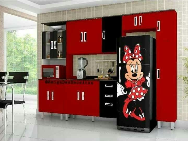 Cozinha decorada mickey e minnie