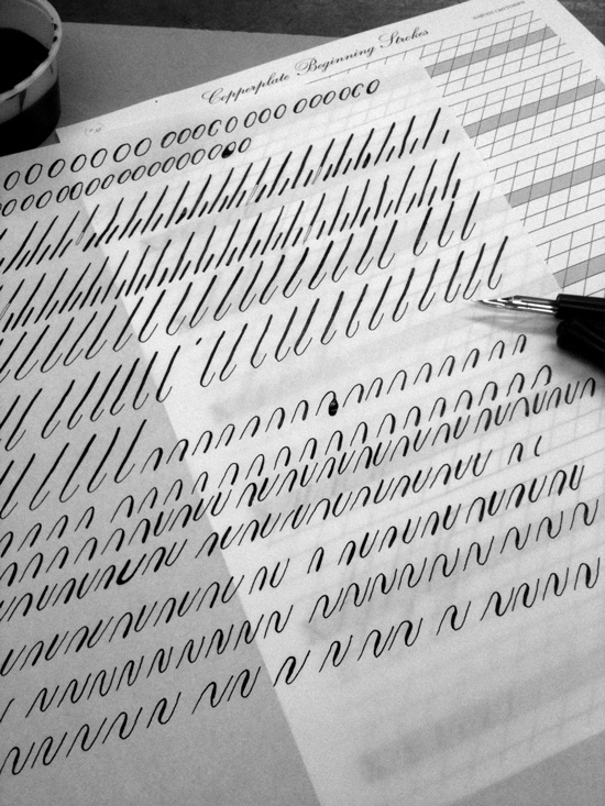 two if by sea studios blog: Copperplate Calligraphy Workshop