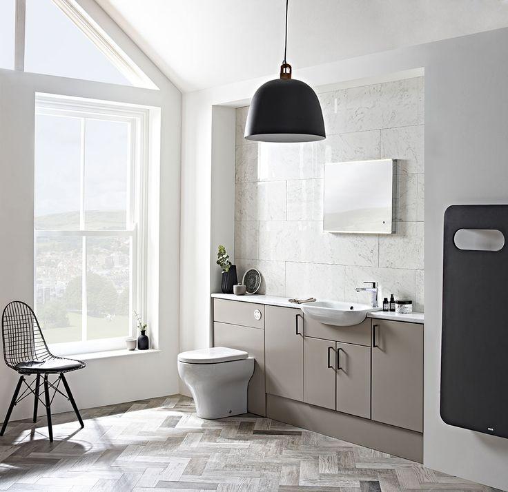 this aruba mocha furniture run by roper rhodes creates a lovely clean u0026 modern bathroom design