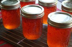 what to do with all of those pretty red jalapenos from the garden – hot red pepper jelly | lightlycrunchy