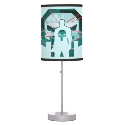 Punisher Logo Silhouette Table Lamp