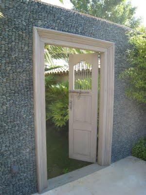 Gabion cage garden wall/door.