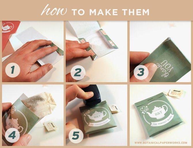 how to make tea bag favors