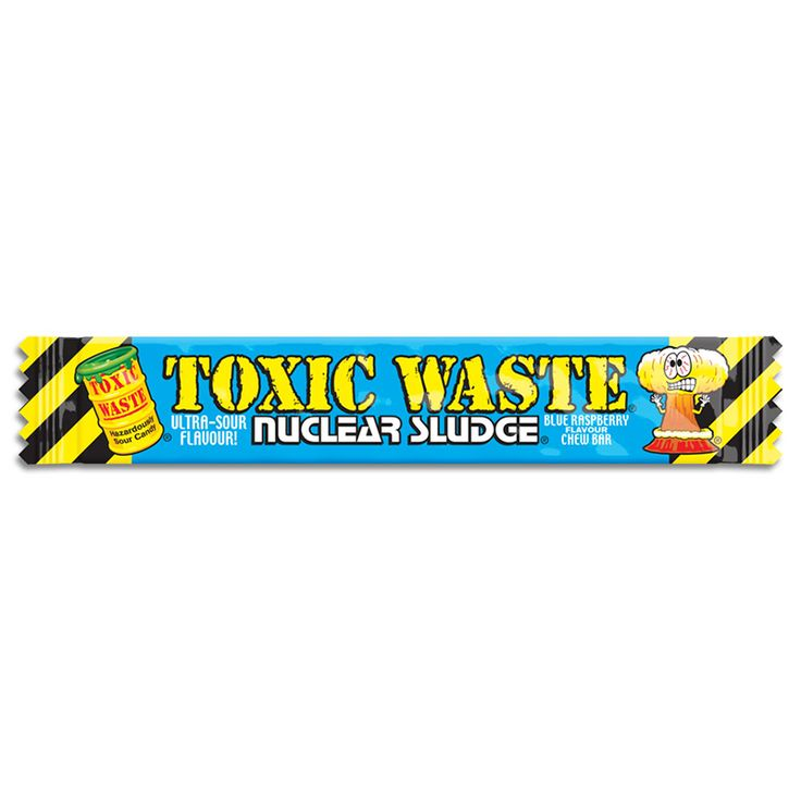 Toxic Waste Sour Raspberry Flavour Chew Bar From 5 Bars To 50 Bars