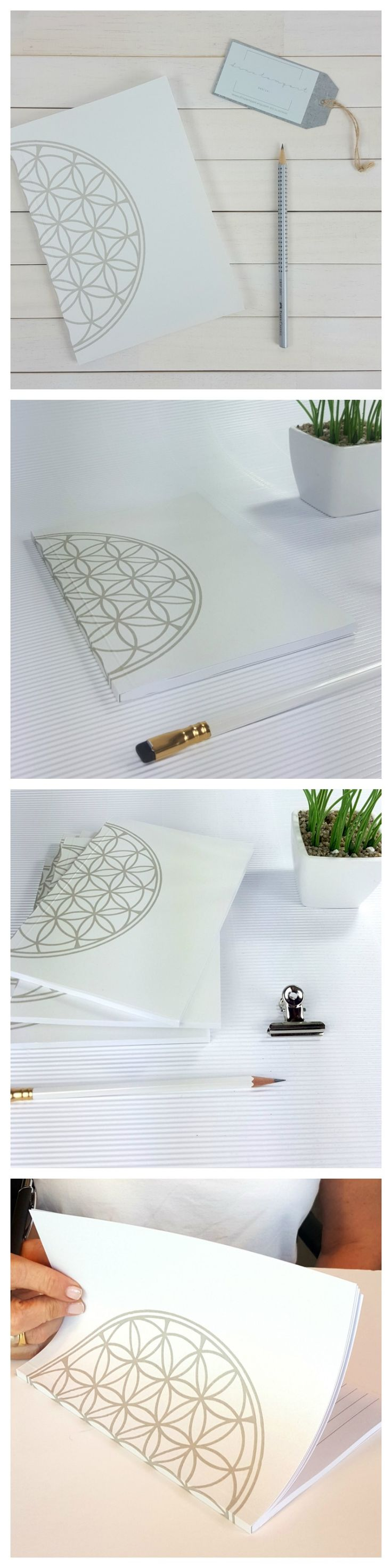 Back To School Flower of life A5 notebook, school stationary personal notebook, office supplies college notebook, yoga gift paper lover gift