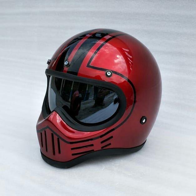 Coffee Racer Arts Custom M30 Helmet Design By Helmetarts Motorcycle Gear Cafe Racer Helmet Helmet Design Retro Motorcycle Helmets