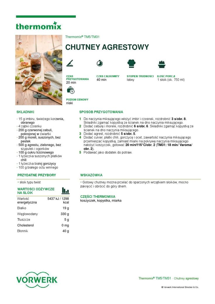 thermomix - Chutney agrestowy by Elżbieta Flakus