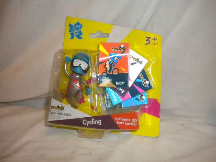 Olympic COLLECTABLE London 2012 Mascot WENLOCK - Cycling with 3D Cards  | eBay