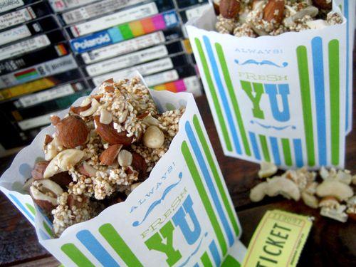 Healthy, yummy movie snack! Popped Amaranth Crunch @Heather Crosby
