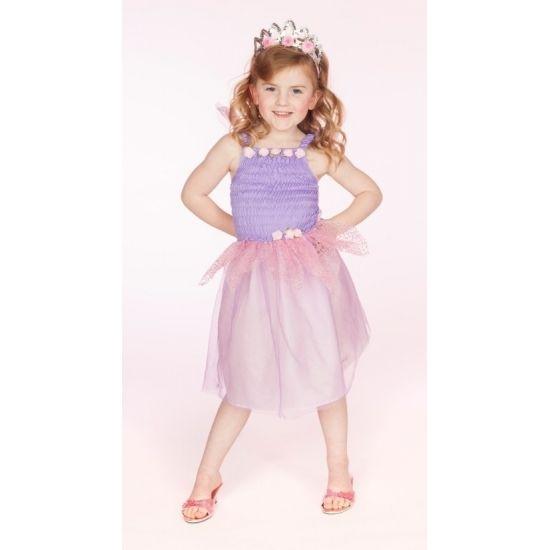 Prinses jurkje lila. Dit schattige jurkje voor meisjes is gemaakt van 100% polyester.
