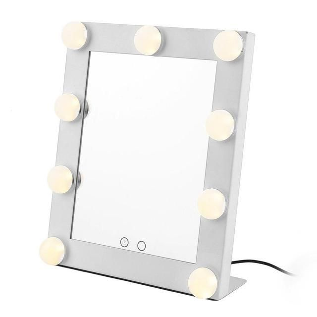 Portable Vanity Tabletop With 9 Led Bulb Lights Dimmer Touch