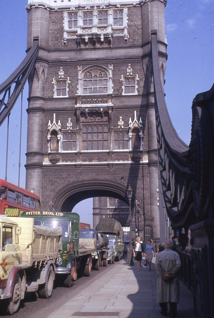TowerBridge on a busy afternoon in 1963