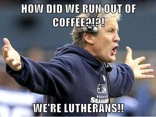 It's funny because it's COMPLETELY UNFATHOMABLE. #Lutheran #humor