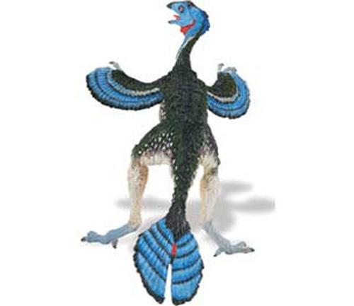 """Caudipteryx - El Caudipteryx era un reptil no volador con plumas largas. Su nombre significa """"Cola Emplumada"""". Era una mezcla espectacular entre reptil y ave. Alto: 15 cm Largo: 18 cm Figuras de gran calidad y detalle, parecen de verdad! Pertenece a la colección THE CARNEGIE COLLECTION de Safari. Edad: a partir de 3 años Marca: Safari Ref. 30170 Precio: 12.00 € IVA incluido"""