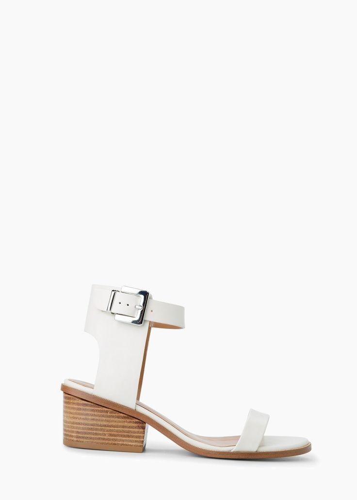 Mango OAK - Ankle cuff sandals - beige 3C2ZAL
