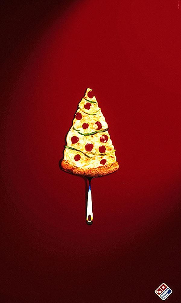 CHRISTMAS TREE, Domino's, Zonazero, Domino's Pizza, Print, Outdoor, Ads