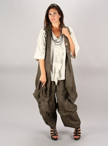 TRANSPARENTE LINEN POCKET PANTS