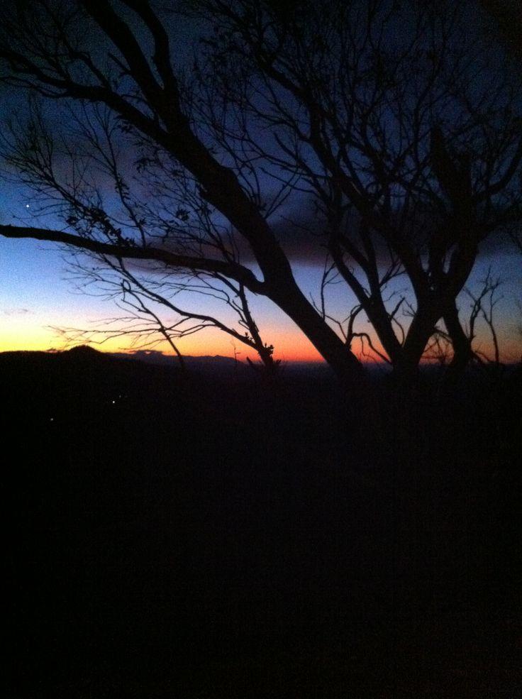 Sunset near Mt Hotham, Victoria